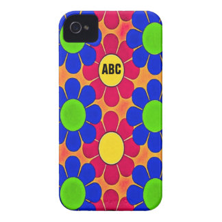 Retro funkyblommor iPhone 4 Case-Mate fodraler