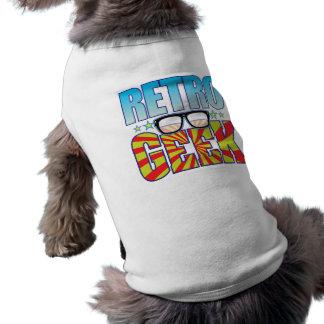 Retro Geek v4 Hund T-shirts