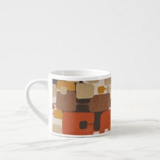 Retro geometriskt för 70-tal espressomugg
