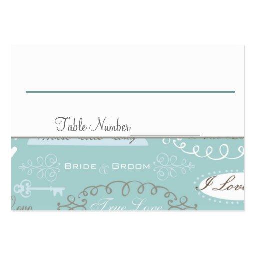 Retro gifta sig bordsnummerkort visitkort mall