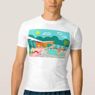 Retro glad T-tröja för bassängpartykompression Tee