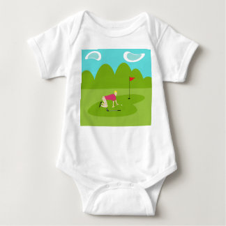 Retro golfarespädbarnranka t shirts