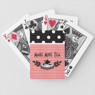 Retro gör min Tea Spelkort