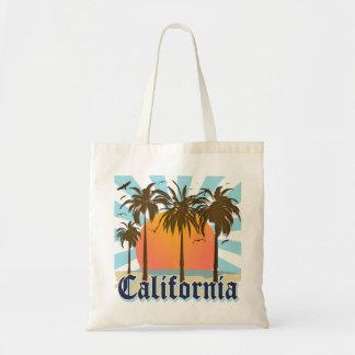 Retro grafisk Kalifornien logotyp Budget Tygkasse