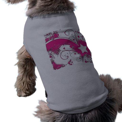 Retro grafisk vovveT-tröja Hund Tee