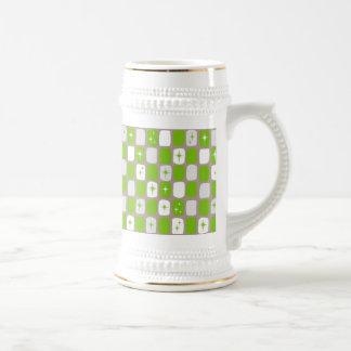 Retro grönt och vit Starbursts Stein Sejdel