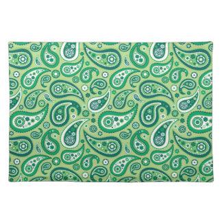 Retro grönt Paisley mönster Bordstablett