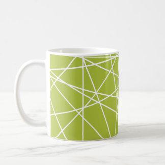 Retro gröntlinjer kaffemugg