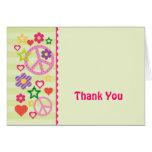 Retro Groovy tackkort Hälsnings Kort