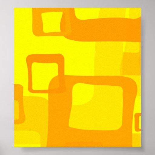 Retro gul bakgrund posters