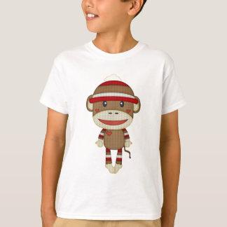 Retro gullig sock monkey t-shirts
