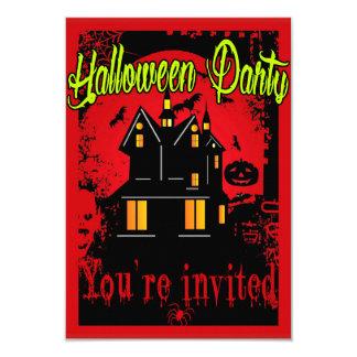 retro halloween 8,9 x 12,7 cm inbjudningskort