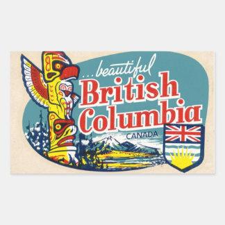Retro härlig British Columbia Kanada klistermärke