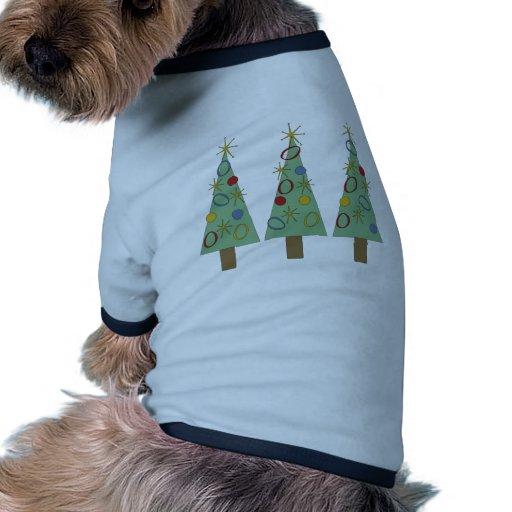 Retro helgdag hund tshirt