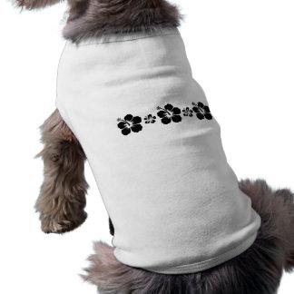 Retro hibiskus långärmad hundtöja