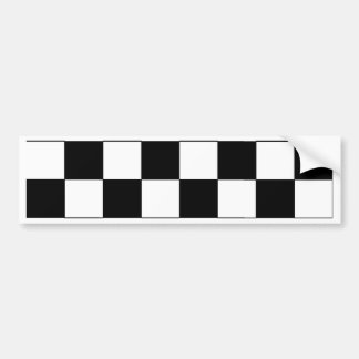 Retro Hipster för svartvit schackbräde Bildekal