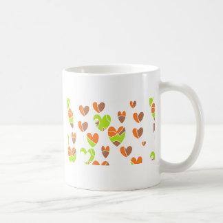 Retro hjärtor kaffemugg