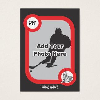 Retro hockeykort visitkort