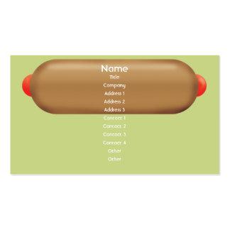 Retro Hotdog - affär Set Av Standard Visitkort