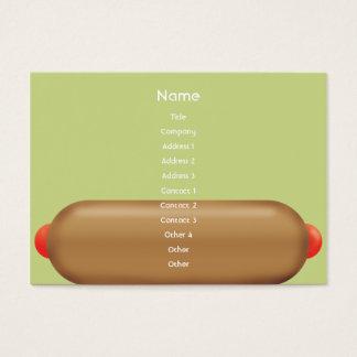 Retro Hotdog - knubbig Visitkort
