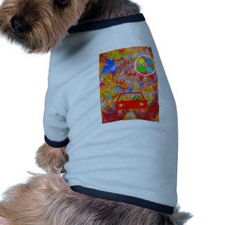 Retro T-shirt För Hundar