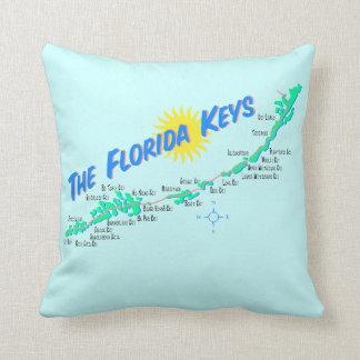 Retro illustration för Florida nyckelkarta Kudde