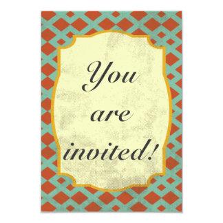 Retro inbjudankortdesign 8,9 x 12,7 cm inbjudningskort