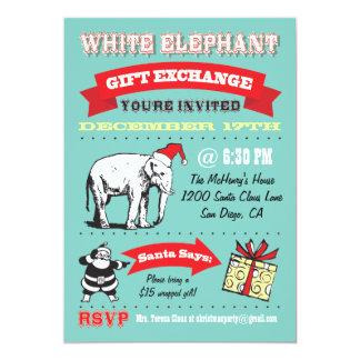 Retro inbjudningar för party för vitelefantjul