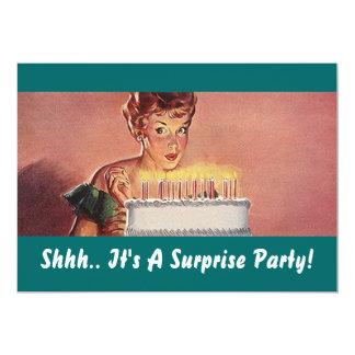 Retro inbjudningar för tårta för födelsedag för