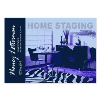 Retro inredingsdesign för Lookhembyggnadsställning Visitkort