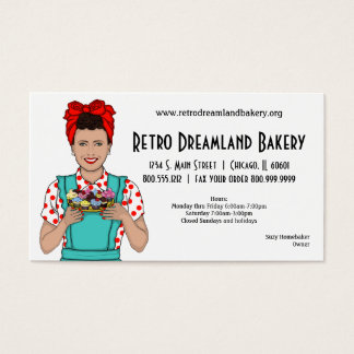 Retro inspirerad bagerivisitkort visitkort