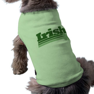 Retro irländsk Shamrock Långärmad Hundtöja