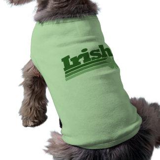 Retro irländsk Shamrock Husdjurströja