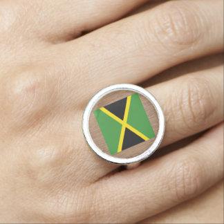 Retro Jamaica flagga Ring