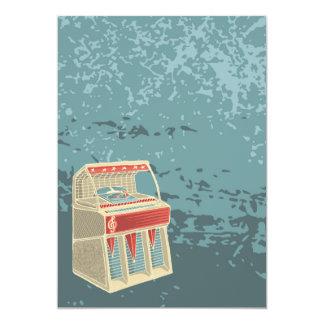 Retro Jukebox för Grunge 12,7 X 17,8 Cm Inbjudningskort