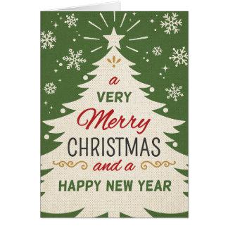 Retro jul hälsningskort