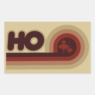Retro julafton rektangelformade klistermärken