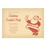 Retro julcocktailpartyinbjudningar inbjudningskort