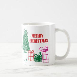 Retro julgran kaffemugg