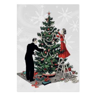 Retro julgrangåvamärkre visitkort mallar