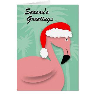 Retro julkort - rosa Flamingo Hälsningskort