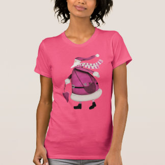 Retro jultomten för nyckfull rosa vintage tshirts