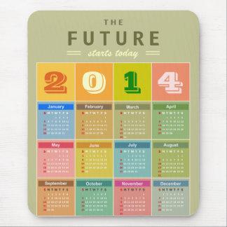 Retro kalender 2014 - det nya året startar i dag musmatta