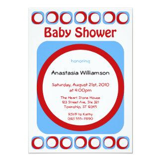 Retro kalla baby showerinbjudningar 12,7 x 17,8 cm inbjudningskort