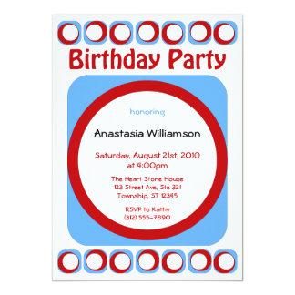 Retro kalla födelsedagsfest inbjudan