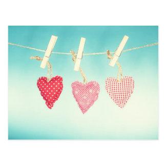 Retro kärlek vykort