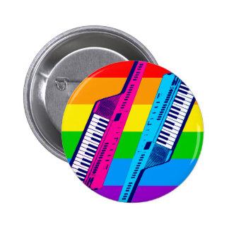 Retro Keytar för Corey tiger80-tal regnbåge Knapp Med Nål