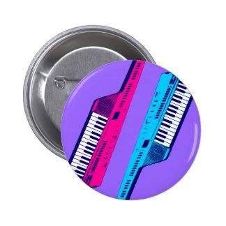 Retro Keytar för Corey tiger80-tal rosor & blått Knappar