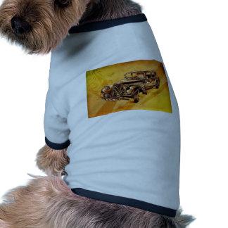 Retro konst F053 för vintagebil Hund Tshirt