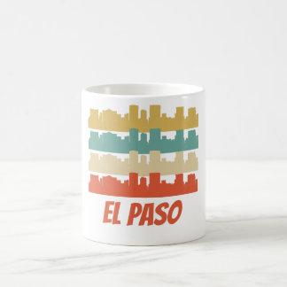 Retro konst för El Paso TX horisontpop Kaffemugg